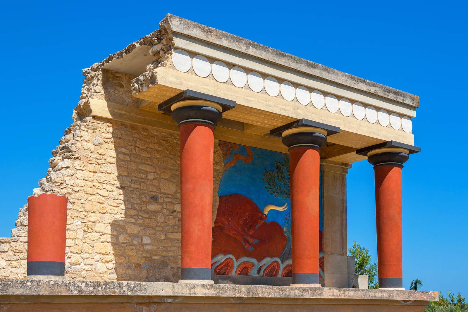 Knossos Palace ruins. Heraklion Crete Greece Europe