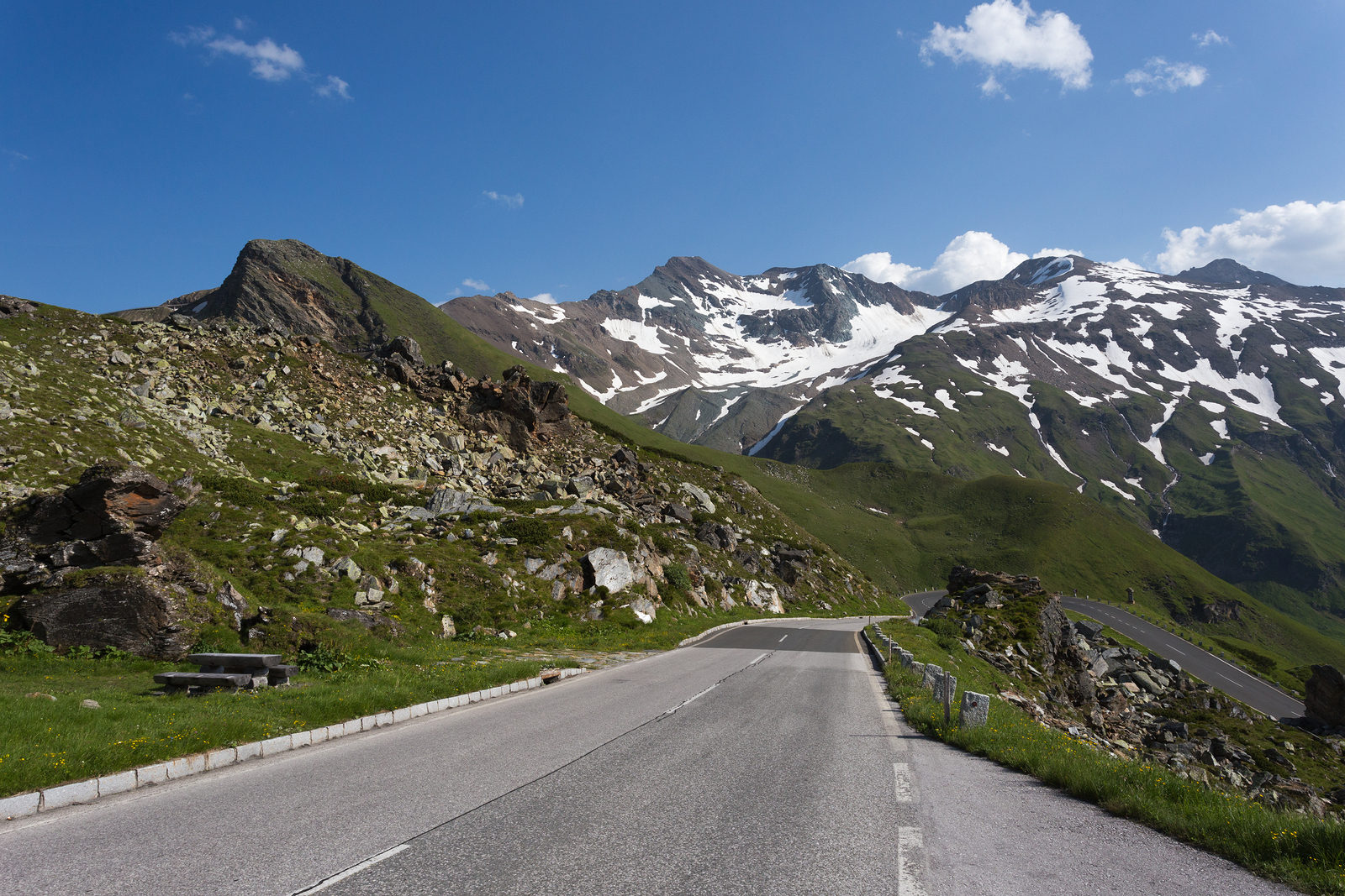 High Alpine Road In Austria