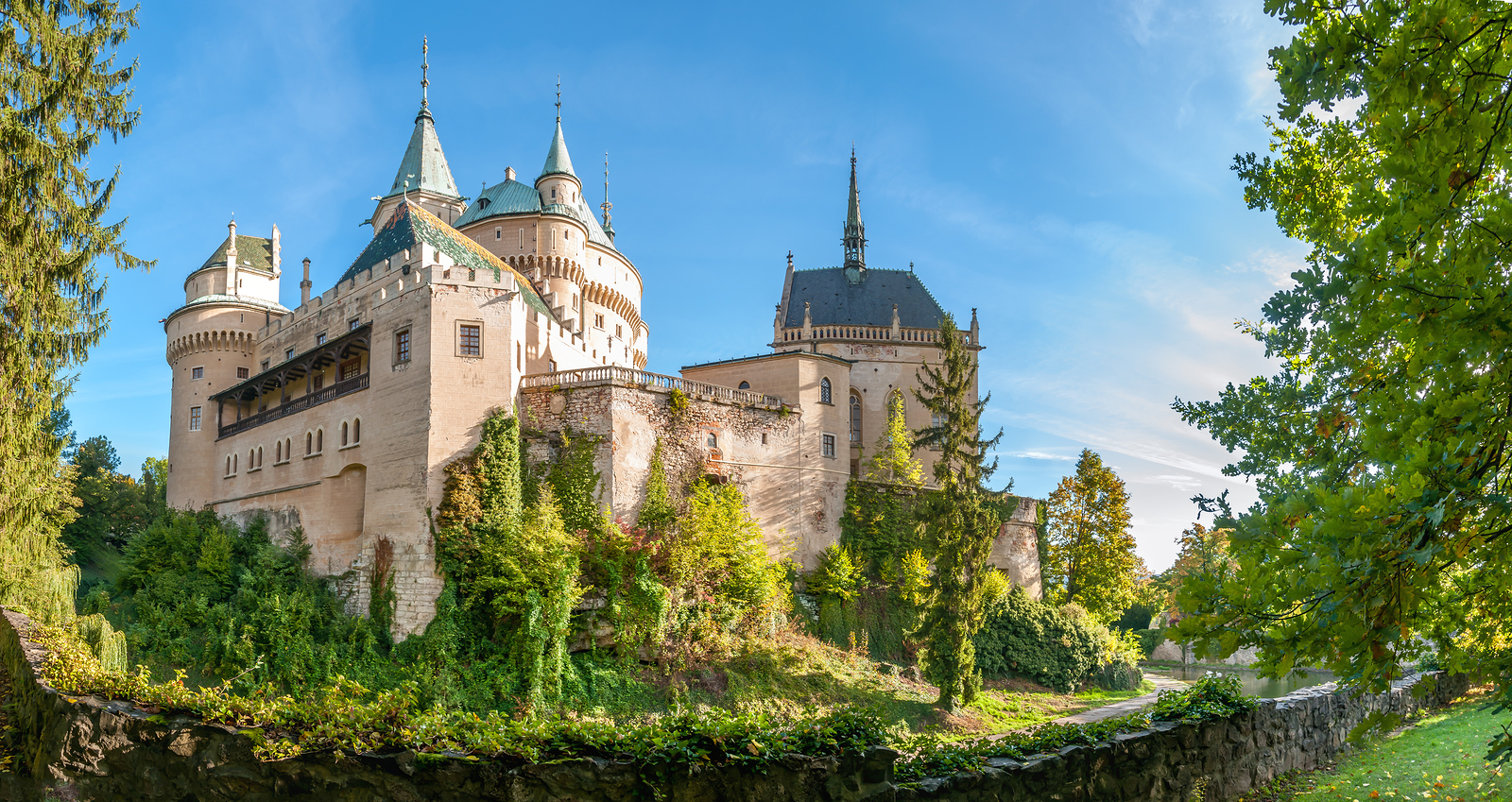 Panorama View At The Bojnice Castle