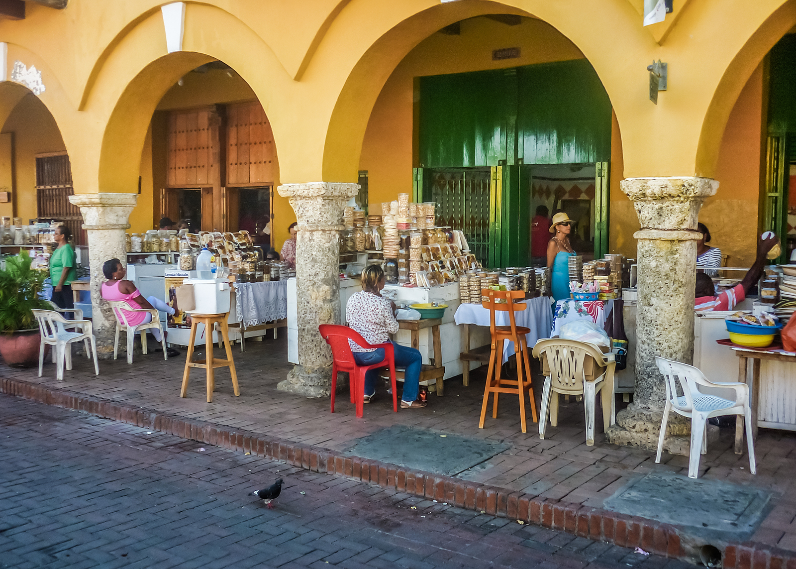 Street Market In Cartagena Colombia